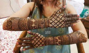 Modern Mehndi Designs for Bride