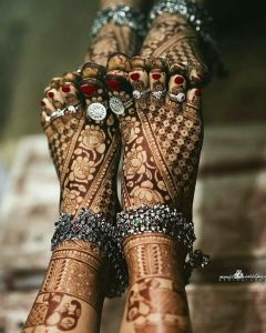 Silver Accessories For Mehendi