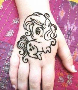 Baby Unicorn Modern Mehndi Designs for Kids