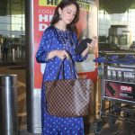 Actress Sandeepa Dhar spotted at airport departure Gallery